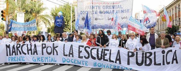 Movilización docente en La Plata