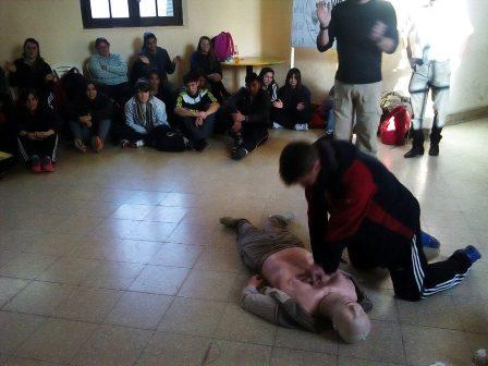 Estudiantes terciarios fueron capacitados en primeros auxilios