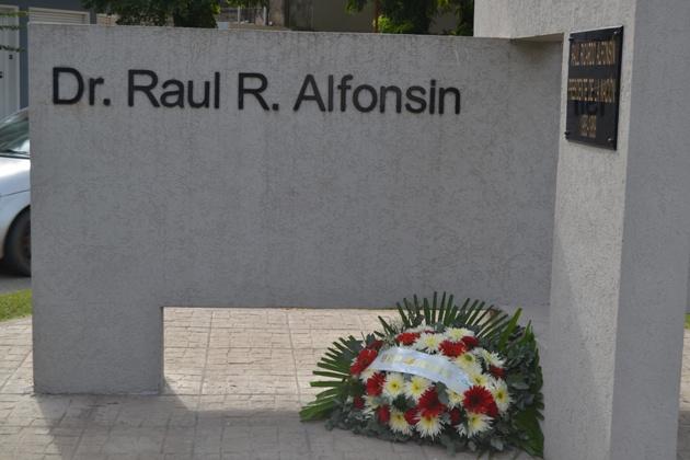 Recordaron a Raúl Alfonsín a ocho años de su fallecimiento