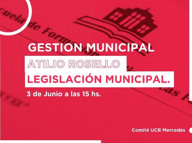 Atilio Rosello brindará charla sobre Gestión y Legislación Municipal