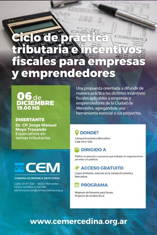 Dos charlas en la CEM: prácticas tributarias y re-empadronamiento industrial