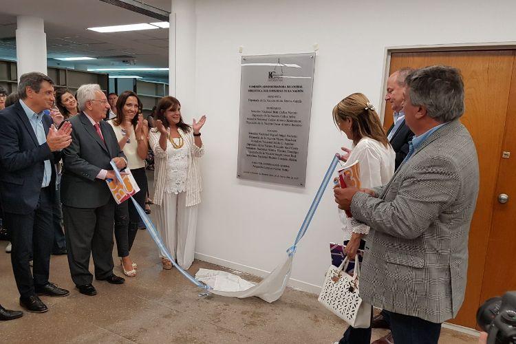 Carlos Selva fue parte de la inauguración de dependencias de la Biblioteca del Congreso