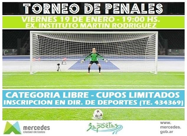 Torneo de penales y canchas de fútbol tenis para el verano