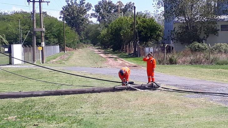 Protección Civil asiste a vecinos y viajantes tras caída de postes