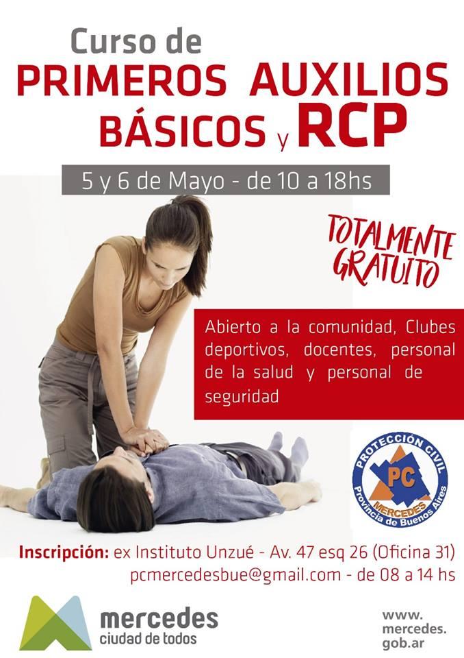 Invitan a participar del curso de RCP y primeros auxilios