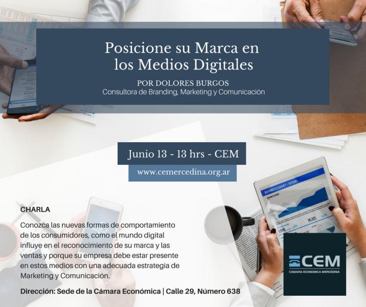 La CEM propone charla para posicionar las marcas en medios digitales