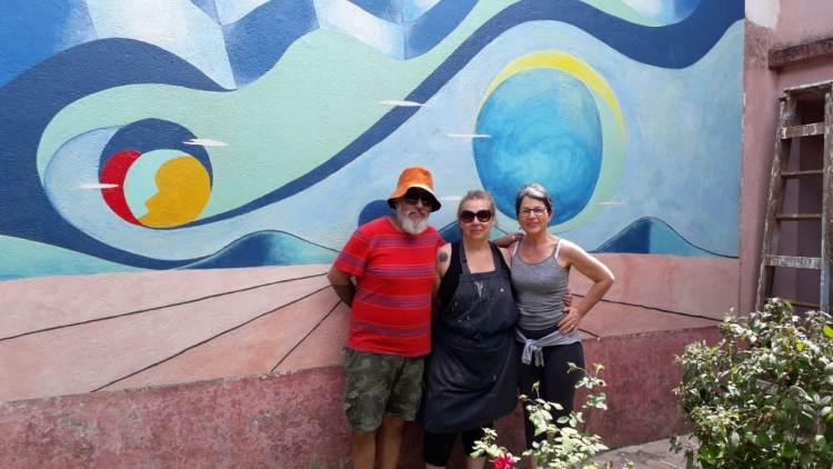 Terminó la restauración de los murales de Landi