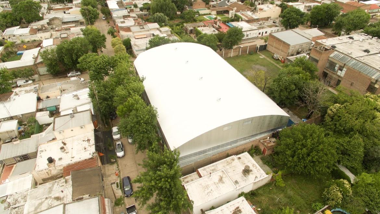 Avanza a paso firme el techado del gimnasio del CEF 40