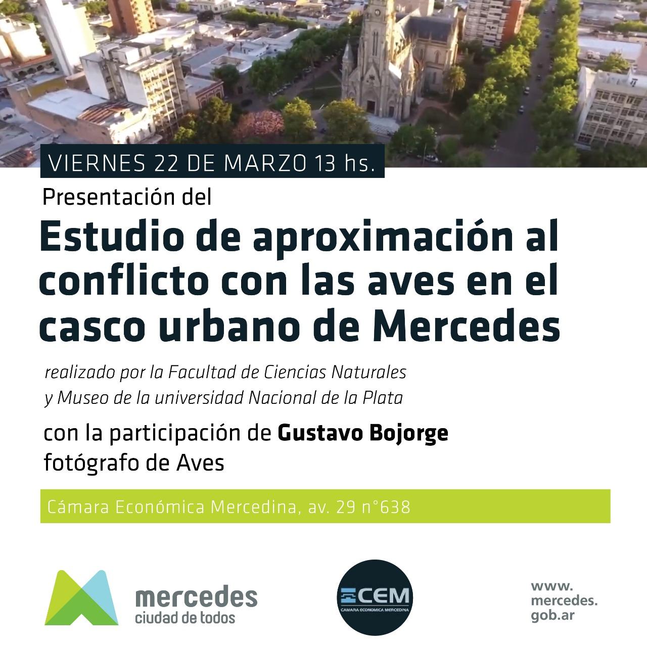 Presentarán resultados de estudios sobre las aves en el casco urbano de Mercedes