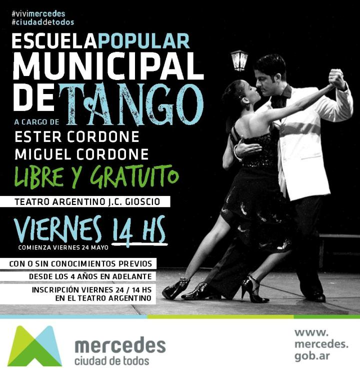 Inscriben para la Escuela Municipal de Tango