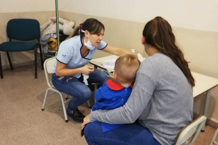 En CAPS Lomas del Pacífico hubo vacunación para los más pequeños