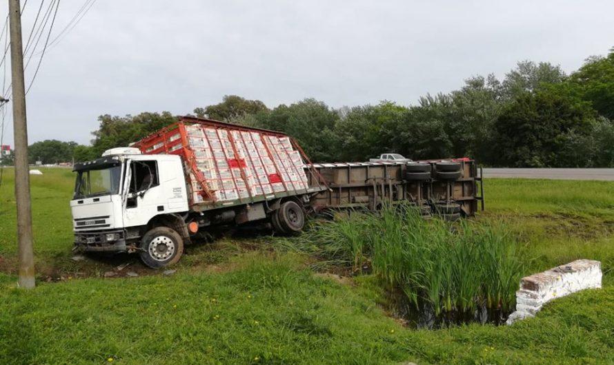 Choque de camiones en Ruta N°5