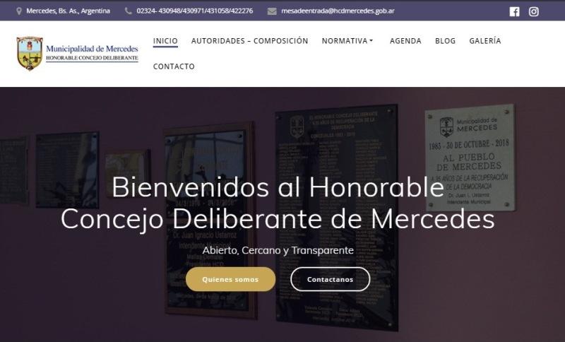 El Concejo Deliberante Mercedes cuenta con página web propia